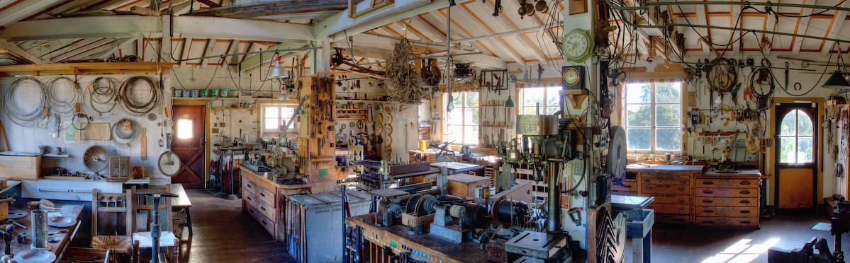 Inside the Steedman Workshop at Casa Del Herrero