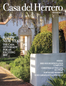 Casa del Herrero Winter 2017 Newsletter